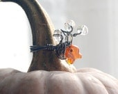 Orange Fish Wire Wrapped Ring