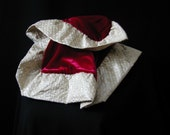Scarf of silk velvet and vintage silk