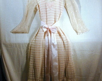 Vintage Crochetted Dress with Wedding Potential