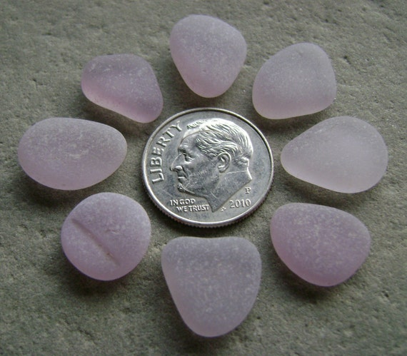 8 Flawless Lavender - Genuine Sea Glass