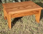 Handmade red oak Footstool