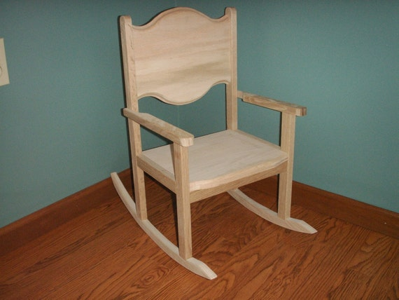 CHILDRENS OAK ROCKING CHAIRS WITH 12 INCH by ilbok on Etsy