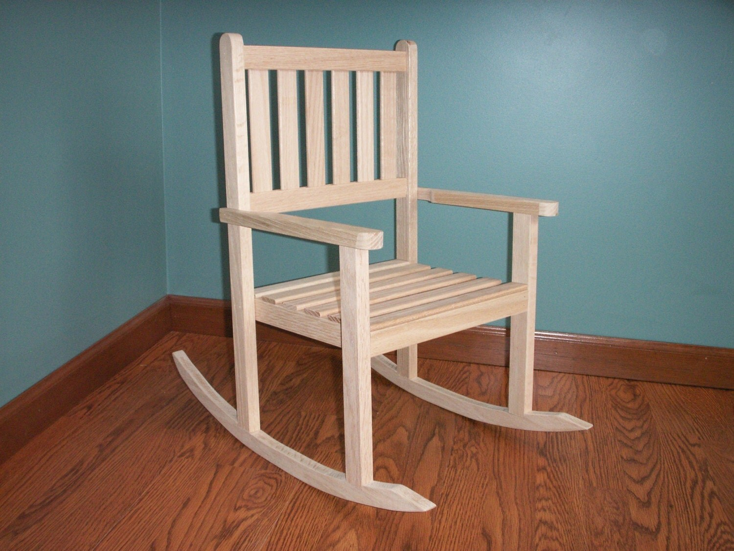 Children S Solid Oak Rocking Chair With 12 Inch By Ilbok On Etsy