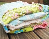 Toddler Bed Rag Quilt, Pick your own fabrics, ALL NATURAL, fresh modern handmade children