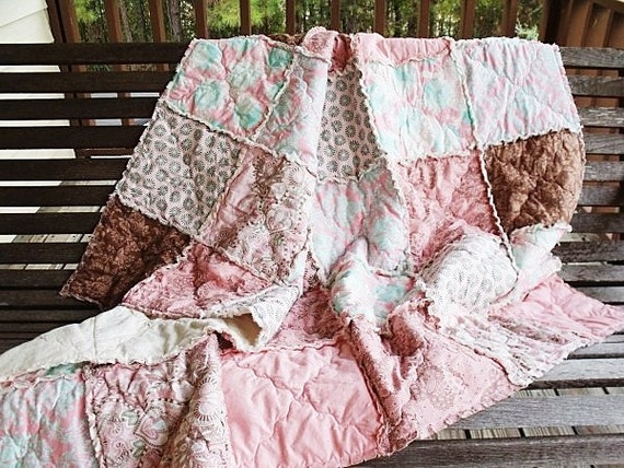 Patchwork Picnic Rag Quilt Throw, Hushabye