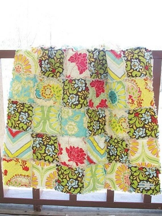 CUSTOM FOR NICOLE, picnic rag quilt