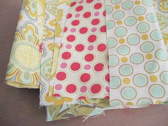 DESTASH fabric, a bit of meadowsweet bundle, 10 inches