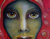 "Kelli Dubay Original Fine Art Painting Portrait 10""x10"" Spiritual"