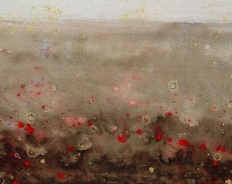 "Kelli Dubay Fine Art Painting 48""x24"" ""Battle"""