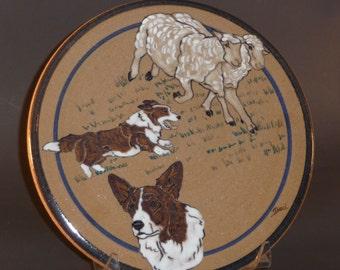 Brindle Corgis Art Tile - Debra Bacianga