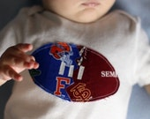 Reserved for Jan808--Clemson and Virginia Tech Divided Football Onesie