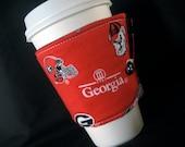 Reusable Coffee Cozy - University of Georgia Bulldogs