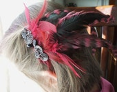 Winged Serenade feather hair barrette SALE