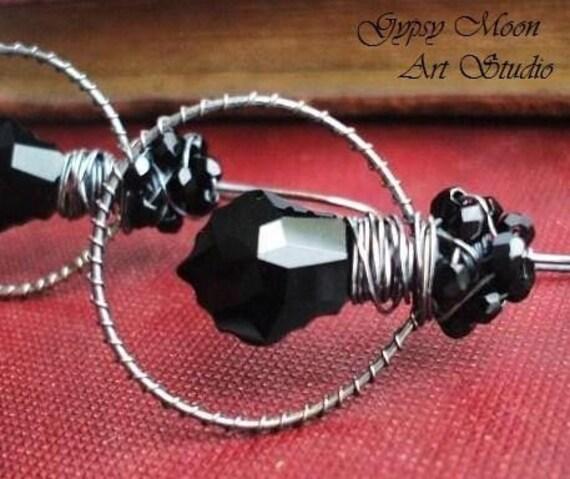 oOo SALE oOo  Nocturnal sterling silver swarovski earrings