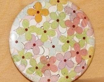 3-inch Pocket Mirror  Les Fleurs Petites