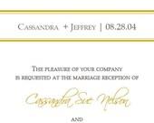 Live Oak Tree Wedding or Shower Invitation