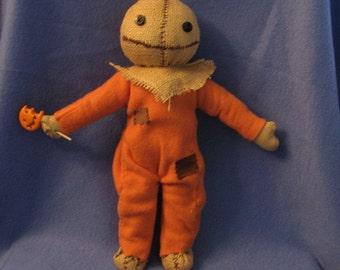 Punkinhead Doll Halloween plush made to order