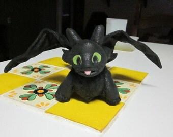 Black Dragon plushie with big eyes Made to Order