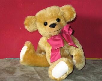 Howie one of a kind gold mohair teddybear