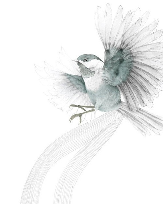 Bird In Flight A4 SIZE