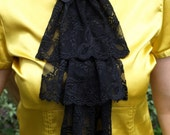 Black Lace Jabot MADE BY ORDER