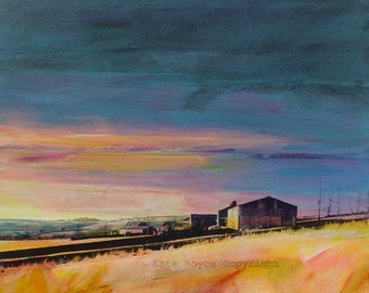 Sunset, Higher Crimsworth, Pecket Well. ( Limited Edition Archival Print - Size 1 )