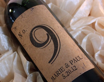 Wine Label Table Numbers.... Kraft Vintage