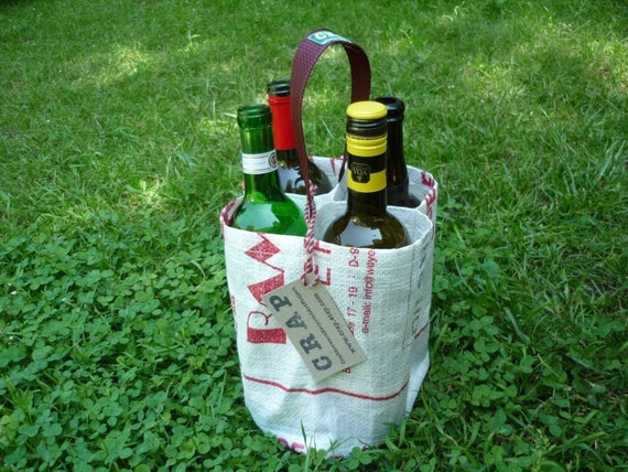Four Hole Wine Bottle Carrier