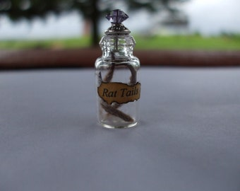 Gothic Witch Rat Tails spell bottle dollhouse miniature halloween