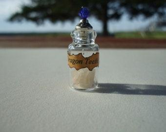 Gothic Witch Wizard Dragon Teeth dollhouse miniature Spell bottles halloween ooak