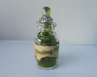 Gothic Witch Healing Herbs spell bottle dollhouse miniature halloween