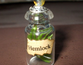 dollhouse miniature Witch Wizard Gothic Hemlock Spell bottle halloween