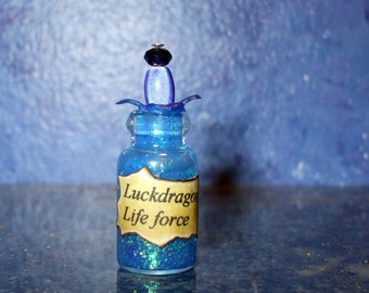 Witch Wizard Gothic Luck dragon Lifeforce dollhouse miniature Spell bottle halloween charm