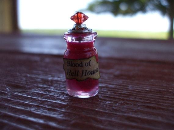 Gothic Witch Spell bottle dollhouse miniature Halloween Blood of HellHound