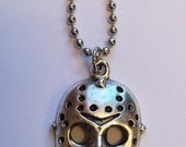 Jason mask from Friday 13th horror necklace