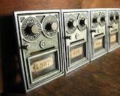 SALE .. Vintage Post Office Box Door .. Double Combination