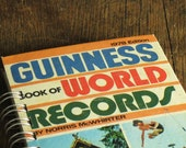 Vintage Book Journal .. Guinness Book of World Records
