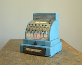Vintage Blue Tom Thumb Toy Cash Register