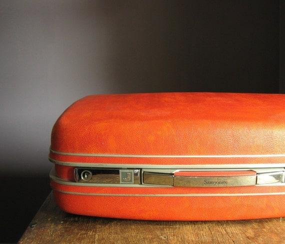 Red Vintage Suitcase Vintage Samsonite Suitcase