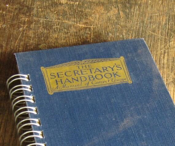 Vintage Book Journal .. The Secretary's Handbook