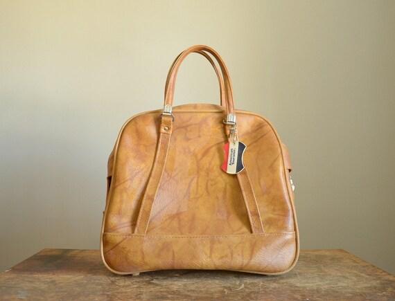 Vintage Honey Brown American Tourister Tote Bag