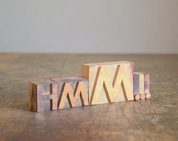 Vintage Wood Letterpress Blocks .. Hmm...