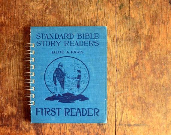 Vintage Book Journal .. Standard Bible Story Readers