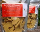 No-Wheat Dog Treat Mini's-Pumpkin & Cheddar Perfect for Small Medium Sized Breeds