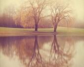 Landscape Photography - 8x8 print - Impressionistic -  Willow Trees Portrait - Happy Couple