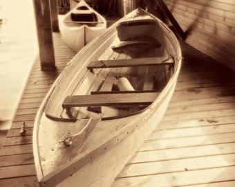 Boathouse Study - River Skiff - 5x7 Fine Art Print