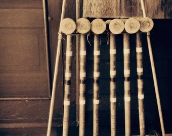 Vintage Croquet Set Study, cabin decor, cottage decor, Fine Art Print, Croquet Photograph