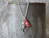 Silver OCTOPUS Charm Necklace