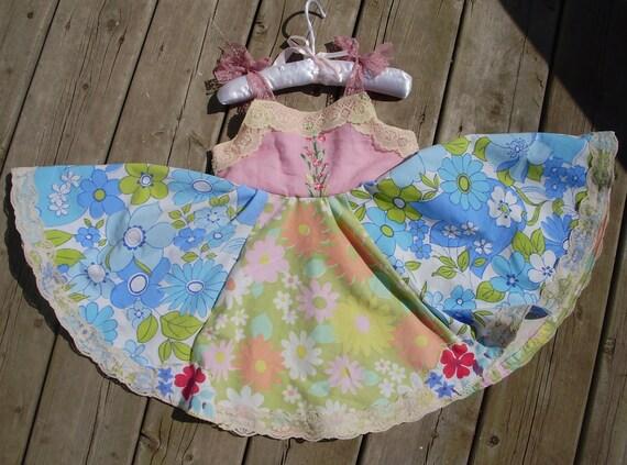 The Secret Garden - Vintage Upcycled Girls Dress