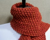 Men's or Unisex Scarf in Terracotta Orange - Ready To Ship Rust Scarf Spice Scarf Woman's Scarf Short Scarf Muffler
